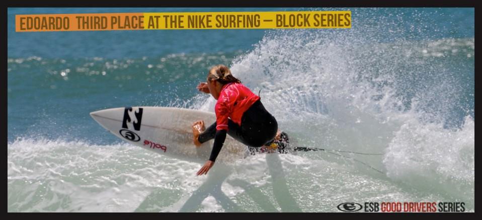 Edoardo third place at the  NIKE SURFING