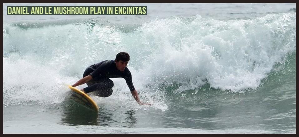 Daniel and Le Mushroom play in Encinitas