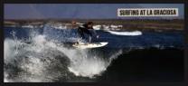 surfing at La Graciosa