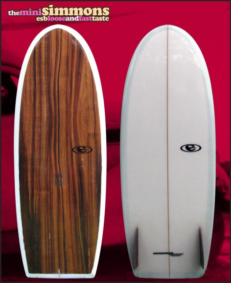eclipse surfboards mini simmons model 78